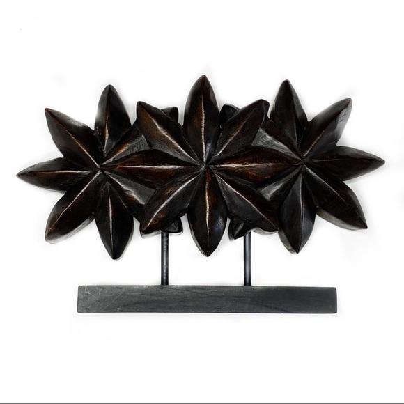 NEW Bali Thailand Decorative Wood Star Accent